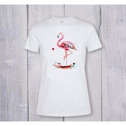 Принт Фламинго