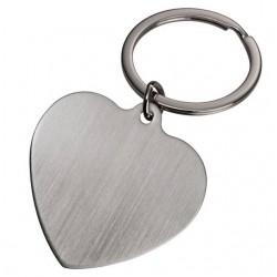 Брелок металлический в форме сердца